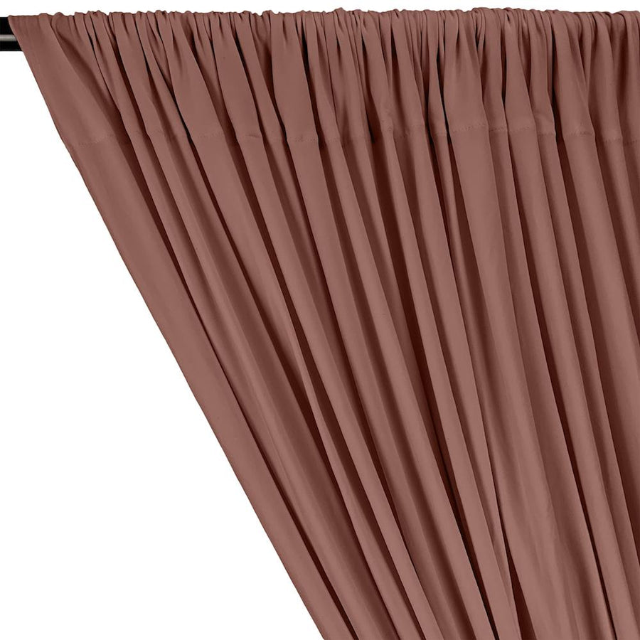 DTY Double-Sided Brushed Rod Pocket Curtains - Dusty Rose