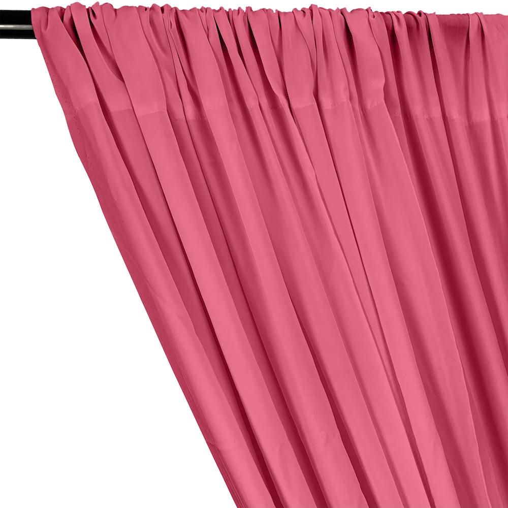 Rayon Challis Rod Pocket Curtains - Dusty Rose