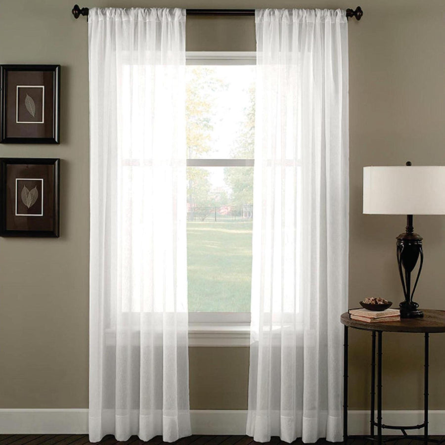 Sheer Voile Rod Pocket Curtains