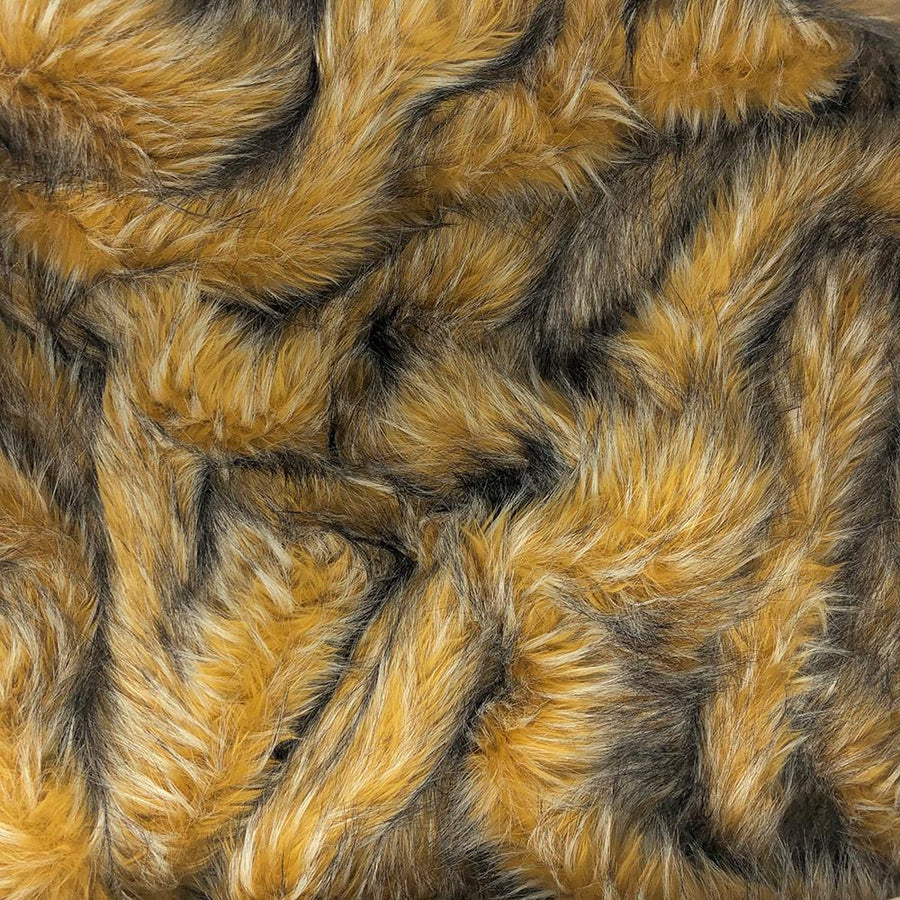 Golden Wolf Faux Fur