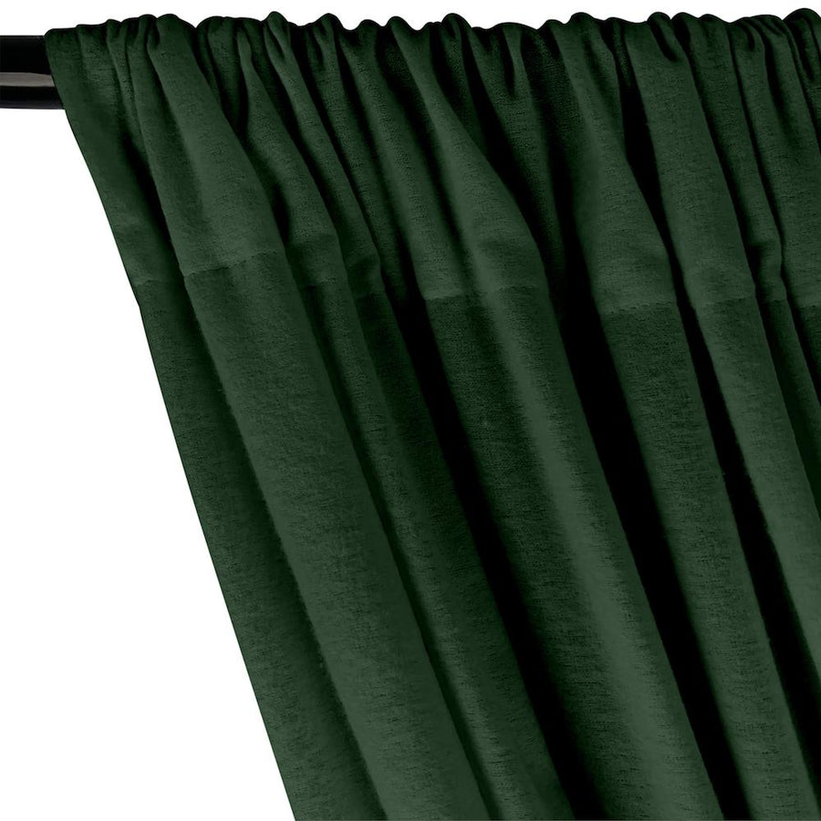 Cotton Flannel Rod Pocket Curtains - Forest Green