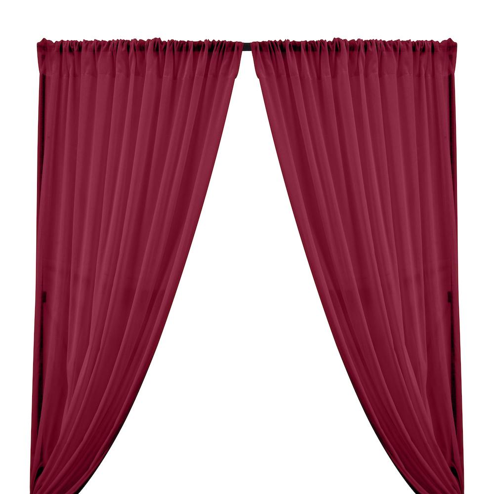 Cotton Voile Rod Pocket Curtains - Fuchsia