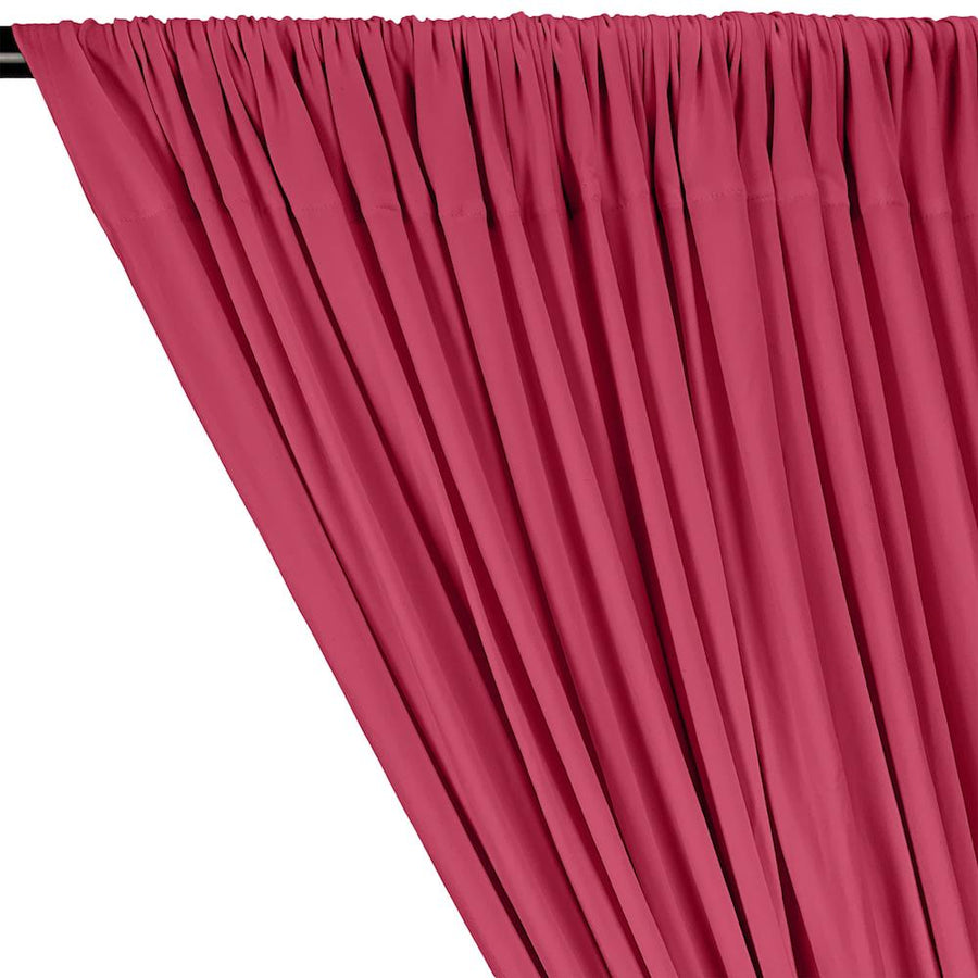 DTY Double-Sided Brushed Rod Pocket Curtains - Fuchsia