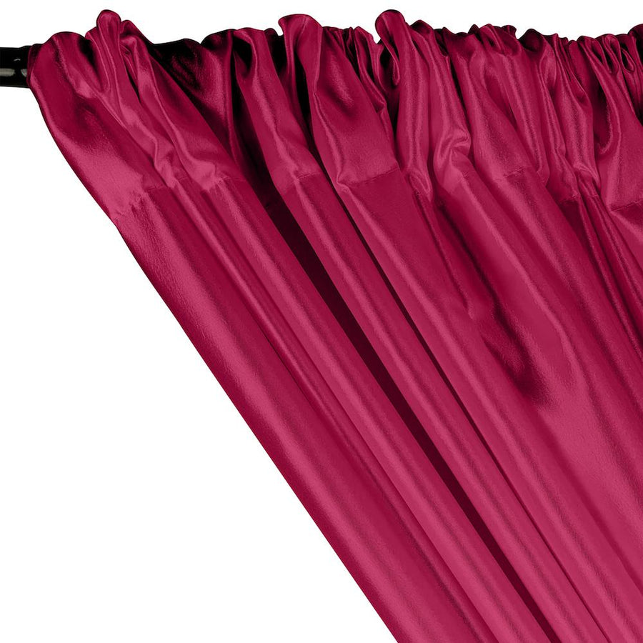 Extra Wide Nylon Taffeta Rod Pocket Curtains - Fuchsia