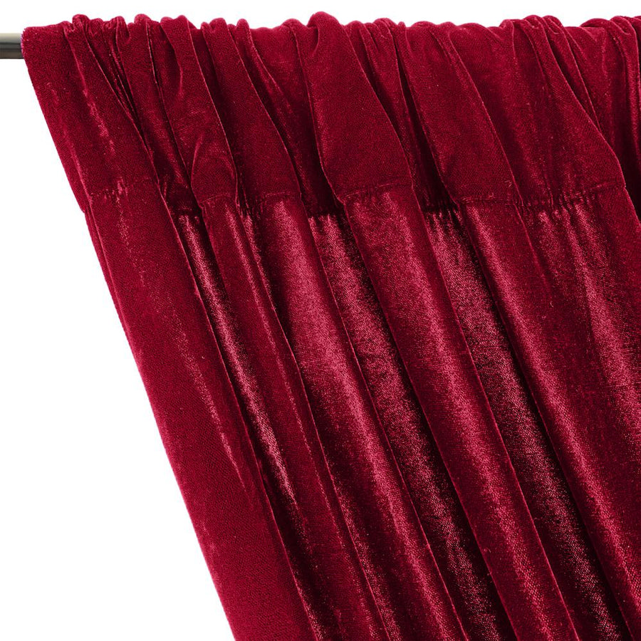Micro Velvet Rod Pocket Curtains - Fuchsia