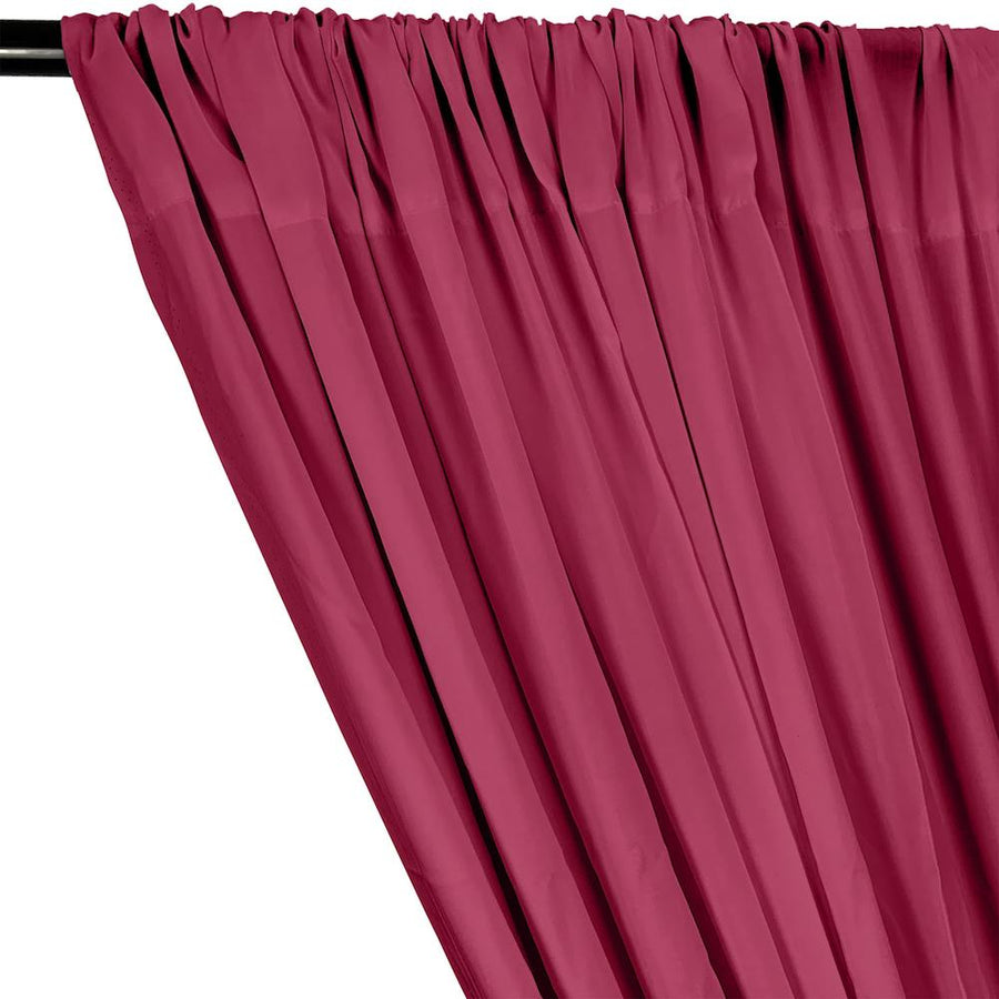 Rayon Challis Rod Pocket Curtains - Fuchsia
