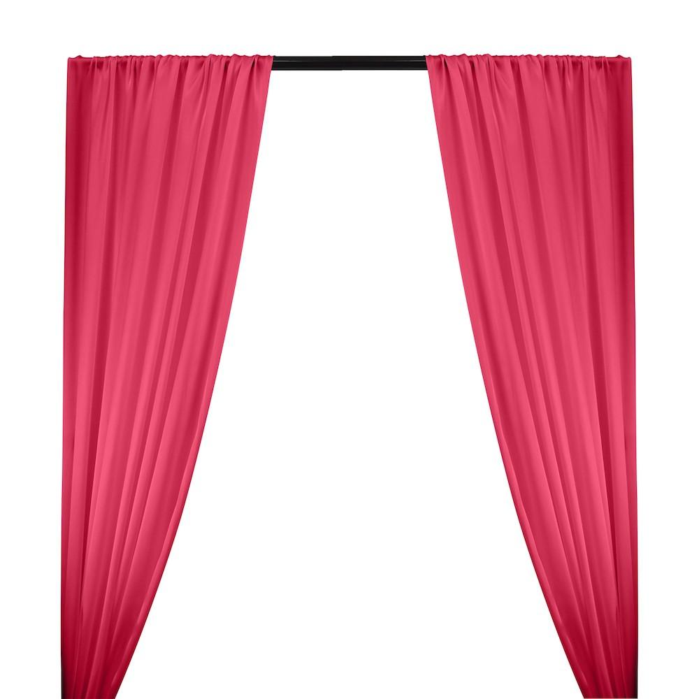 Silk Charmeuse Rod Pocket Curtains - Fuchsia