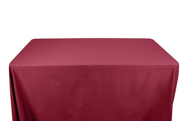 Stretch Broadcloth Banquet Rectangular Table Covers - 8 Feet