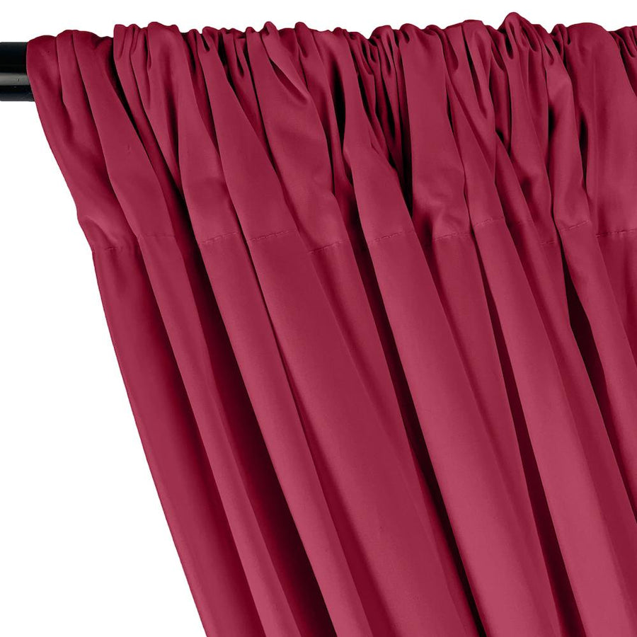 Stretch Broadcloth Rod Pocket Curtains - Fuchsia