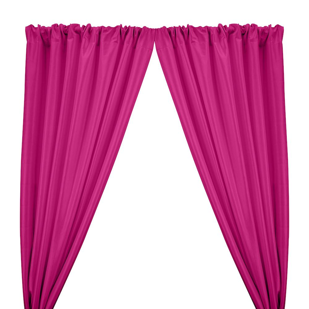 Stretch Taffeta Rod Pocket Curtains - Fuchsia
