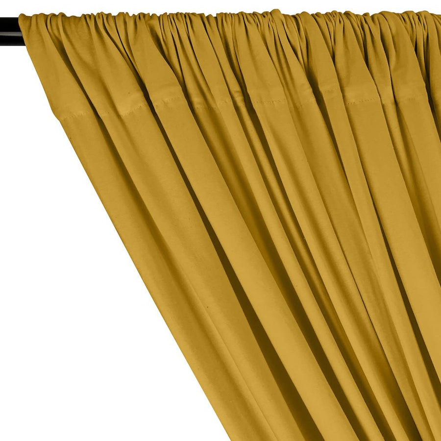 Cotton Jersey Rod Pocket Curtains - Gold