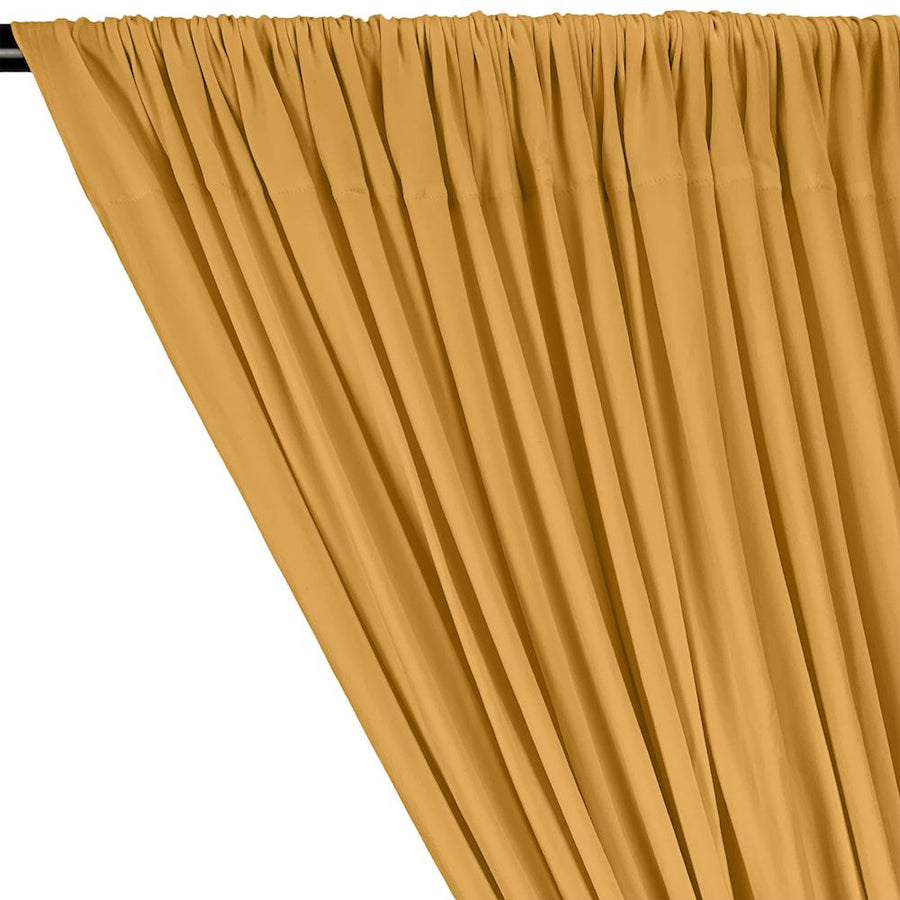 DTY Double-Sided Brushed Rod Pocket Curtains - Gold