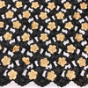 Gold Floral Embroidery on Black Organza Lace