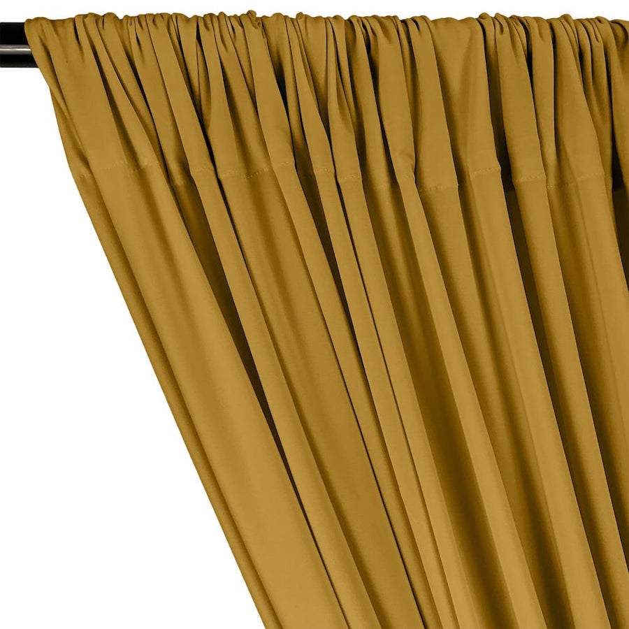 ITY Knit Stretch Jersey Rod Pocket Curtains - Gold