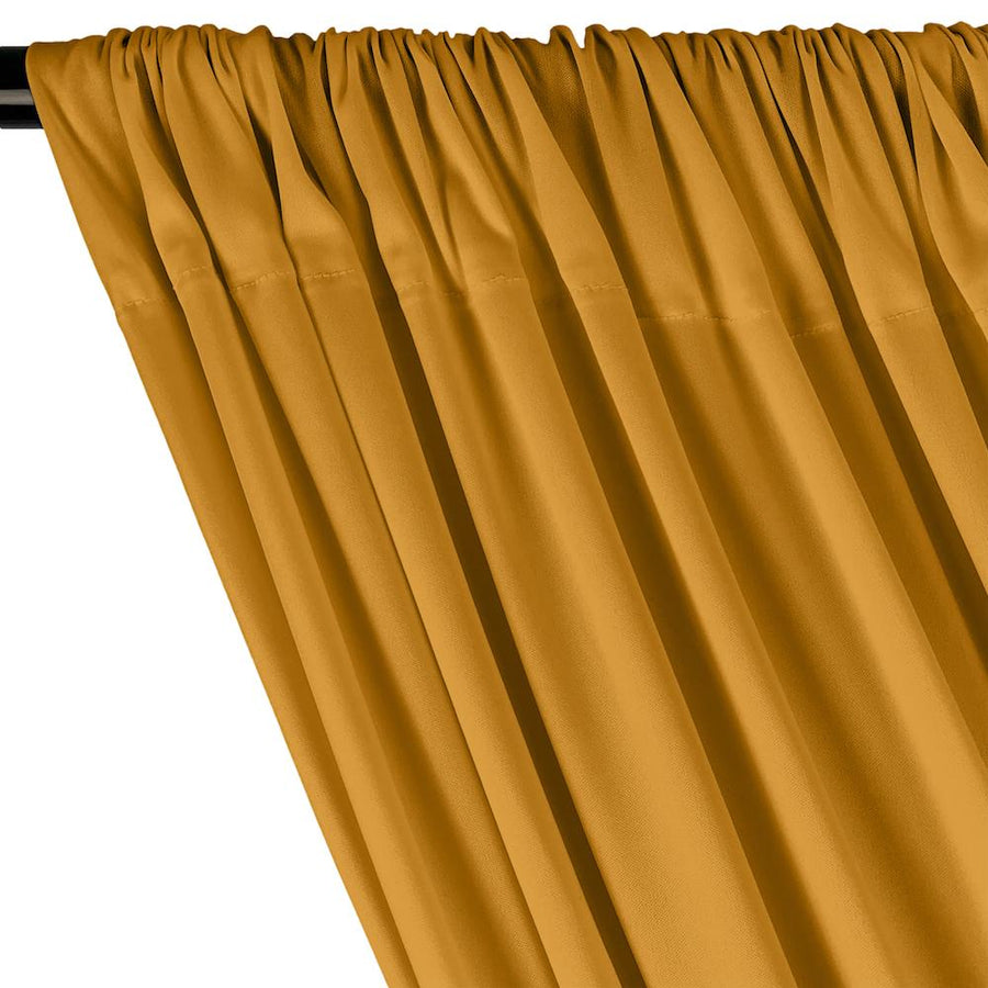 Interlock Knit Rod Pocket Curtains - Gold