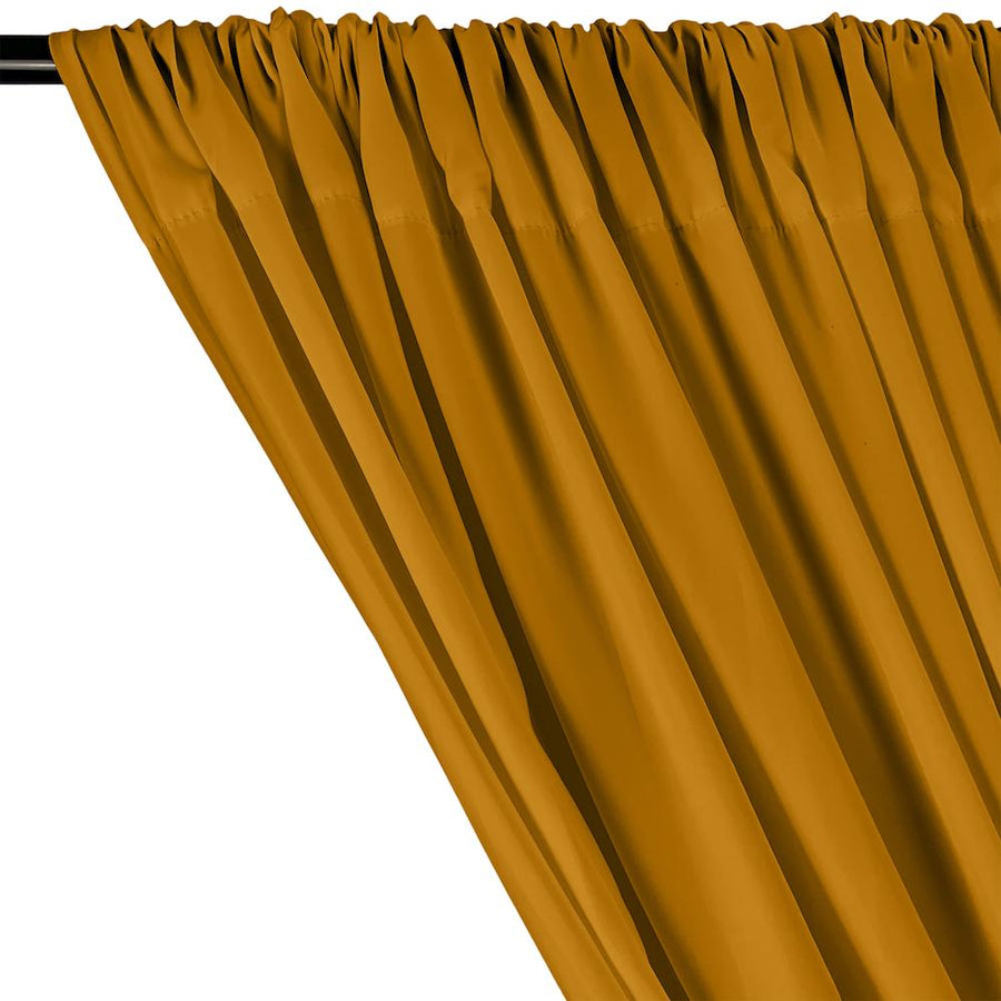 Peachskin Rod Pocket Curtains - Gold