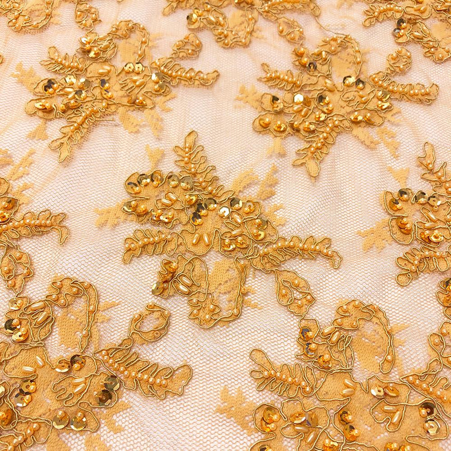 Gold Queen Beaded Lace