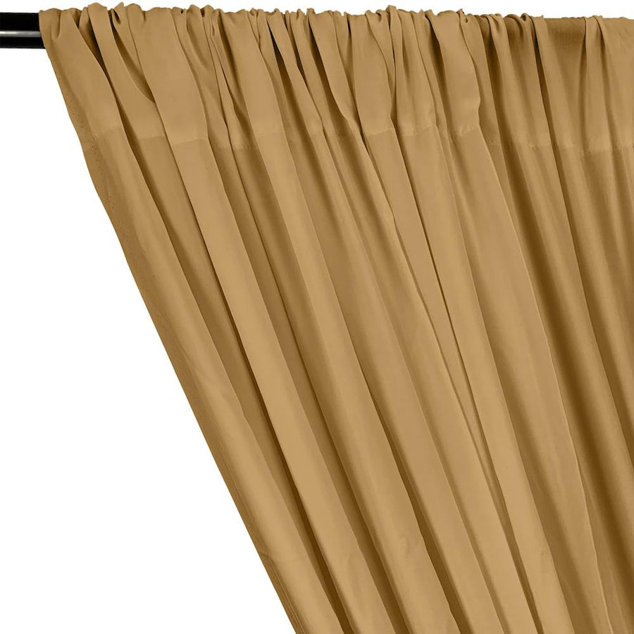 Rayon Challis Rod Pocket Curtains - Gold