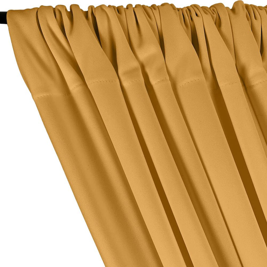 Scuba Double Knit Rod Pocket Curtains - Gold