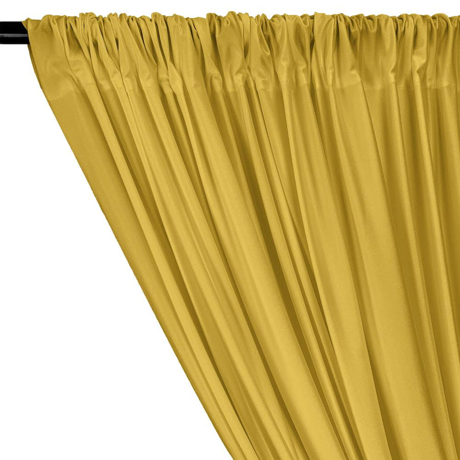 Shiny Milliskin Rod Pocket Curtains - Gold