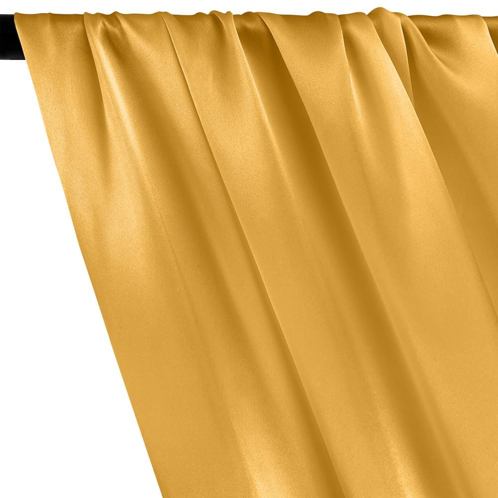Silk Charmeuse Rod Pocket Curtains - Gold