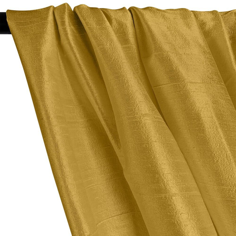 "Silk Dupioni (54"") Rod Pocket Curtains - Gold"