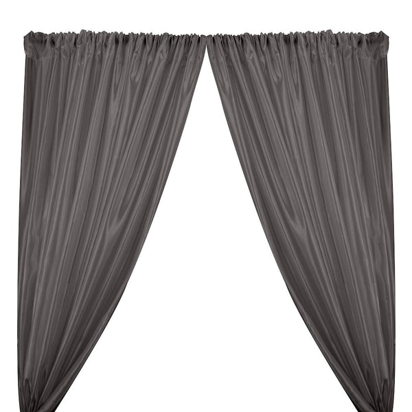 Extra Wide Nylon Taffeta Rod Pocket Curtains - Grey