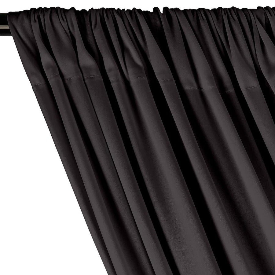 Interlock Knit Rod Pocket Curtains - Grey