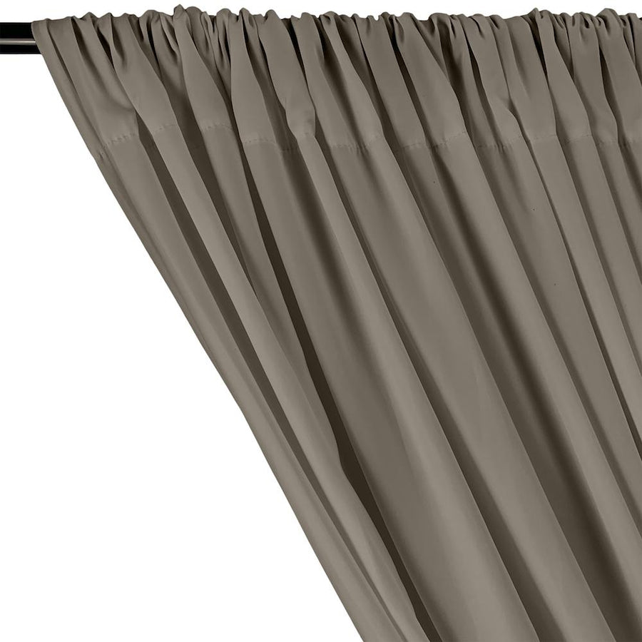 Peachskin Rod Pocket Curtains - Grey