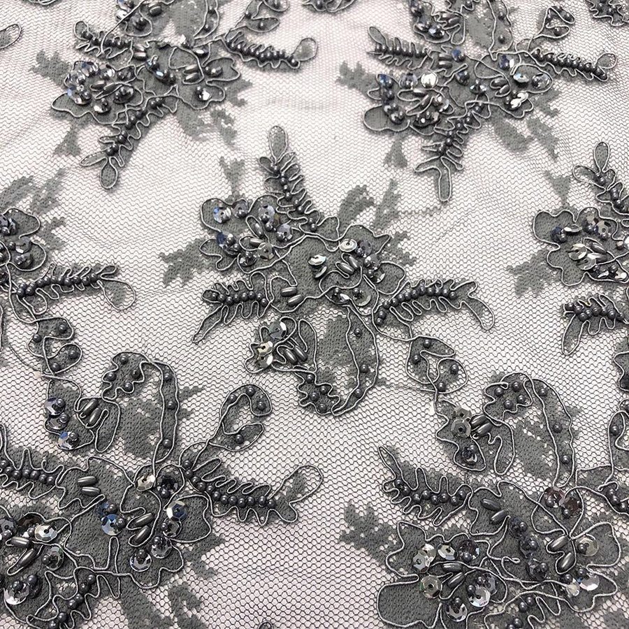 Grey Queen Beaded Lace