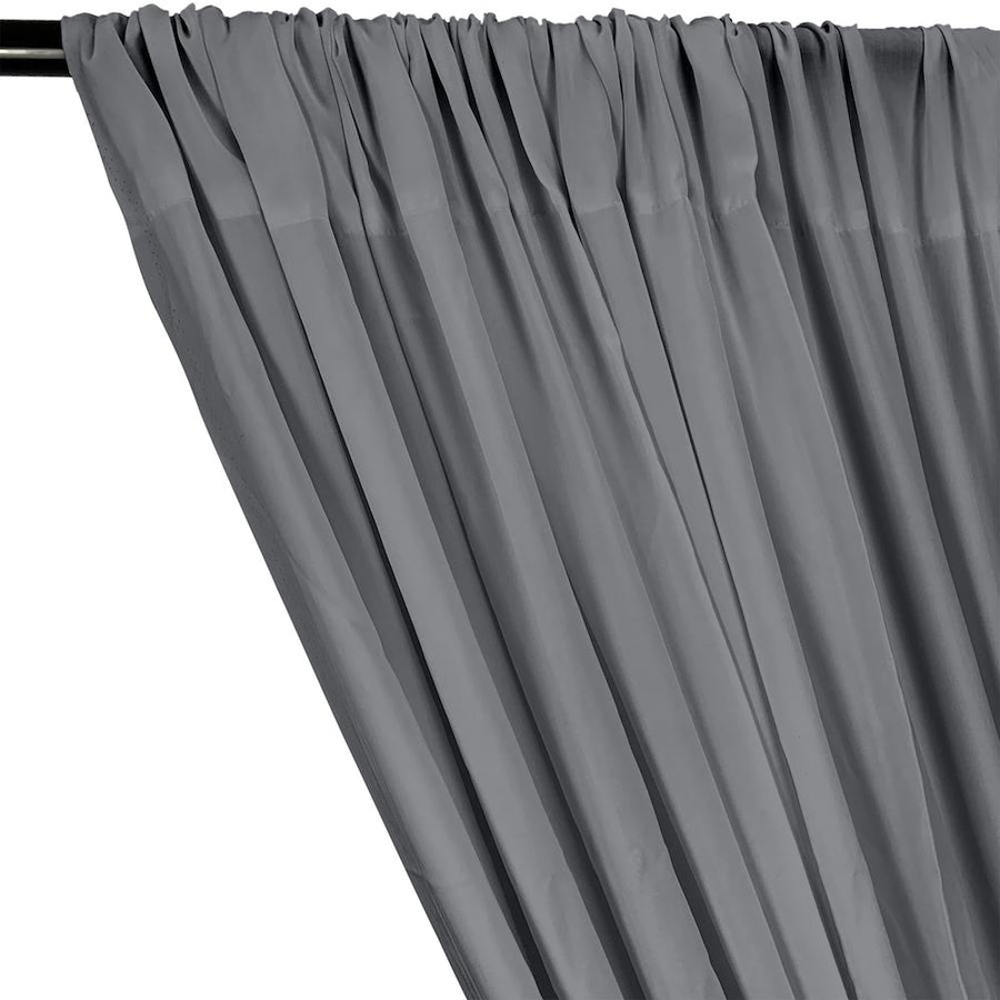 Rayon Challis Rod Pocket Curtains - Grey