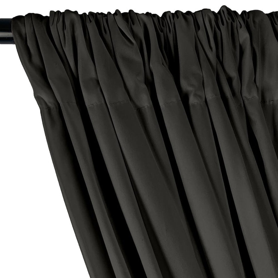 Stretch Broadcloth Rod Pocket Curtains - Grey