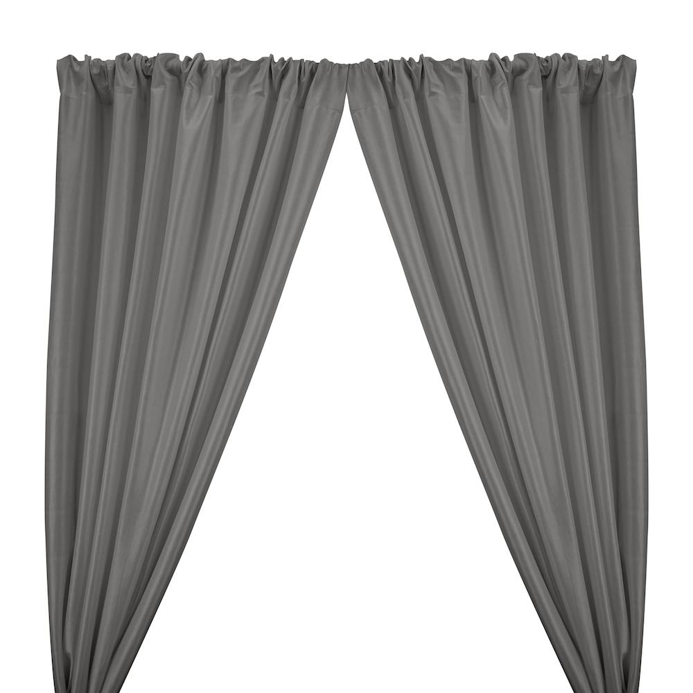 Stretch Taffeta Rod Pocket Curtains - Grey