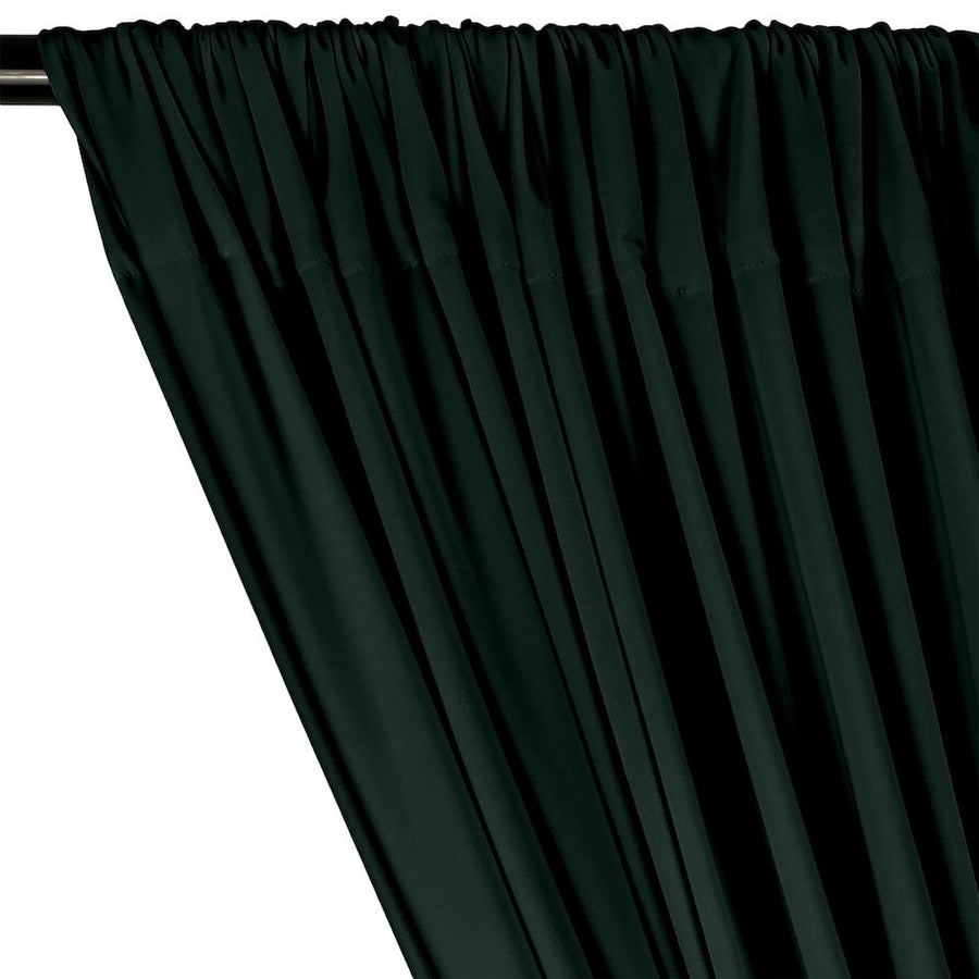 ITY Knit Stretch Jersey Rod Pocket Curtains - Hunter Green