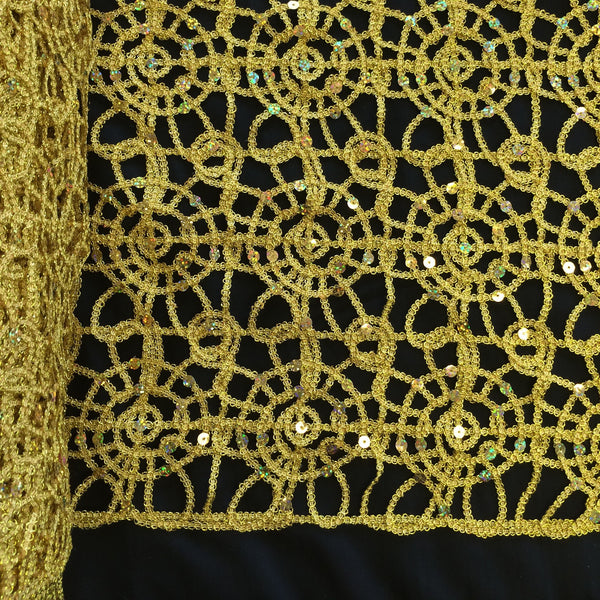 Corded Sequin Lace