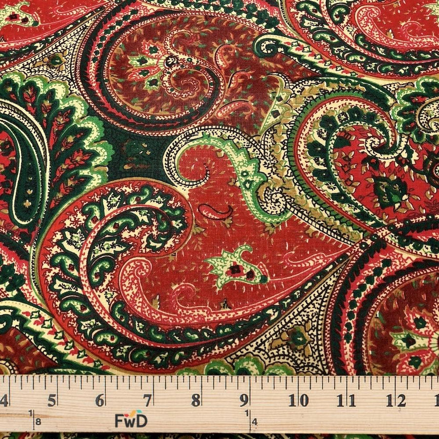 Paisley Red Print Broadcloth
