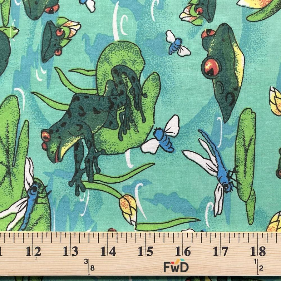 Frog Pond Mint Print Broadcloth Fabric
