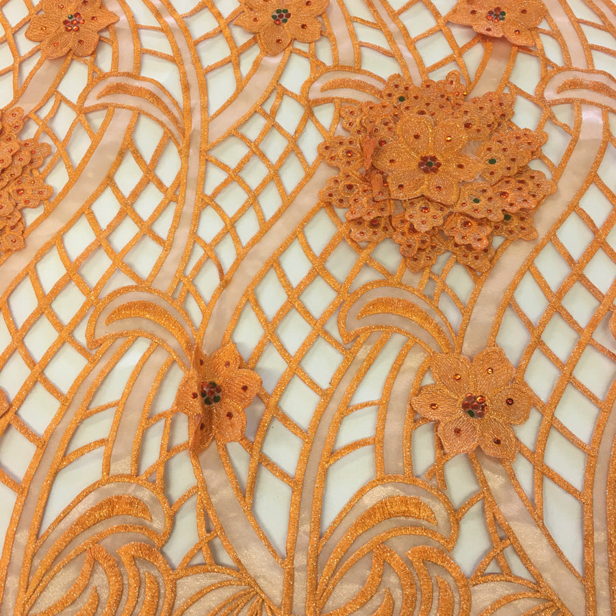 Orange Miranda Lace