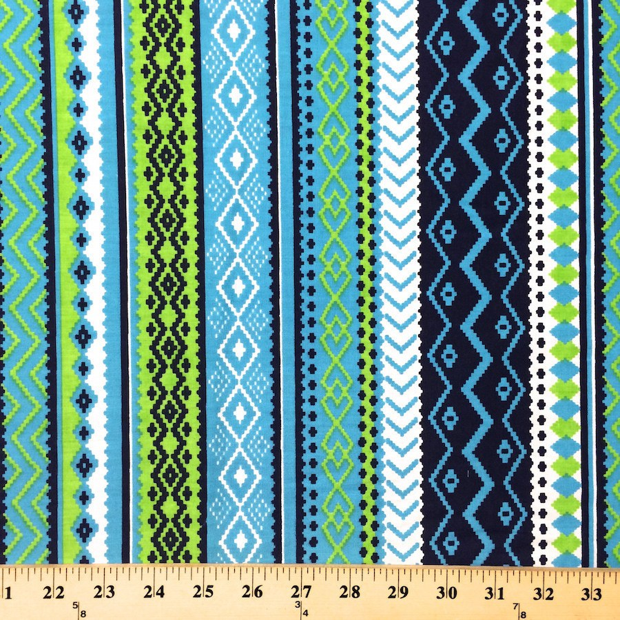 Aztec Print Fabric Cotton Polyester Broadcloth 2 99 Yard Fabric