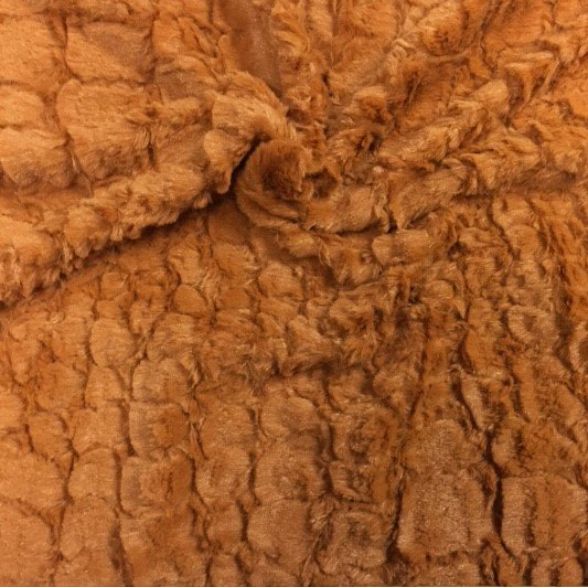 Reptile Rust Faux Fur Fabric