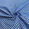Blue Polka Dot Printed Cotton Fabric