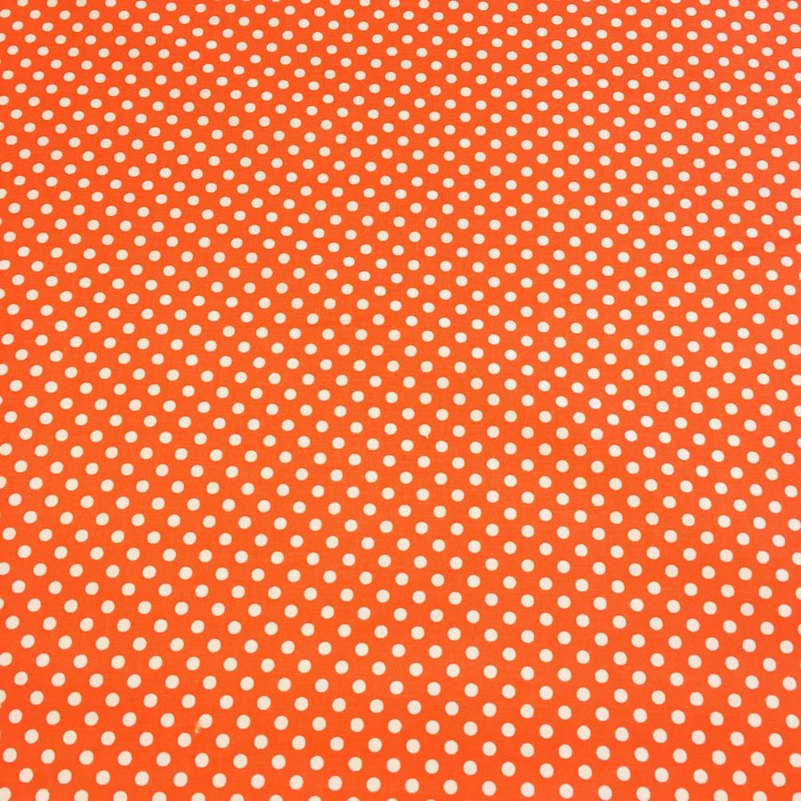 Orange Polka Dot Printed Cotton