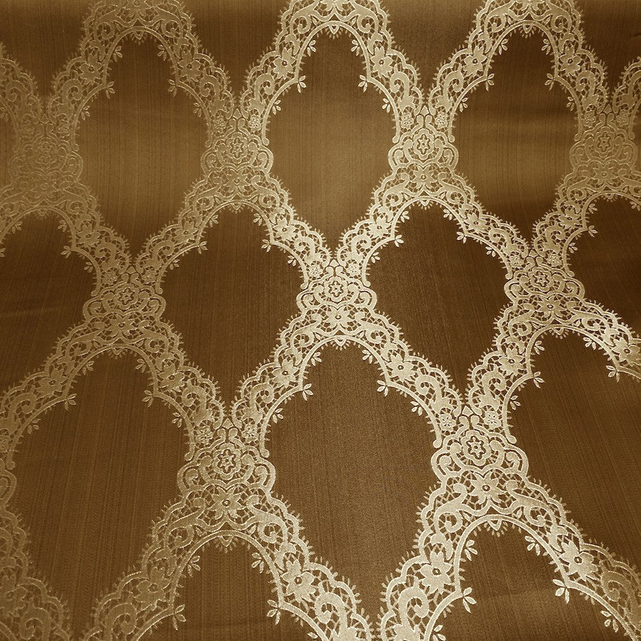 Copper Jacquard Fabric
