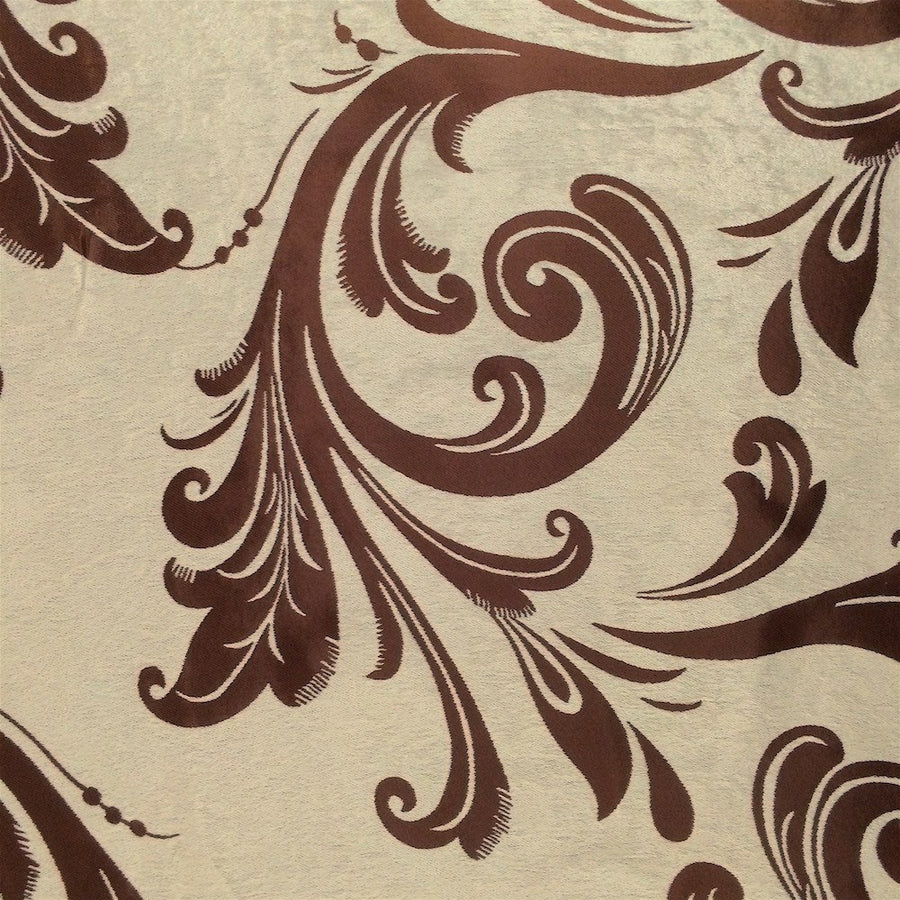 Brown Velvet Jacquard (901-2) Fabric