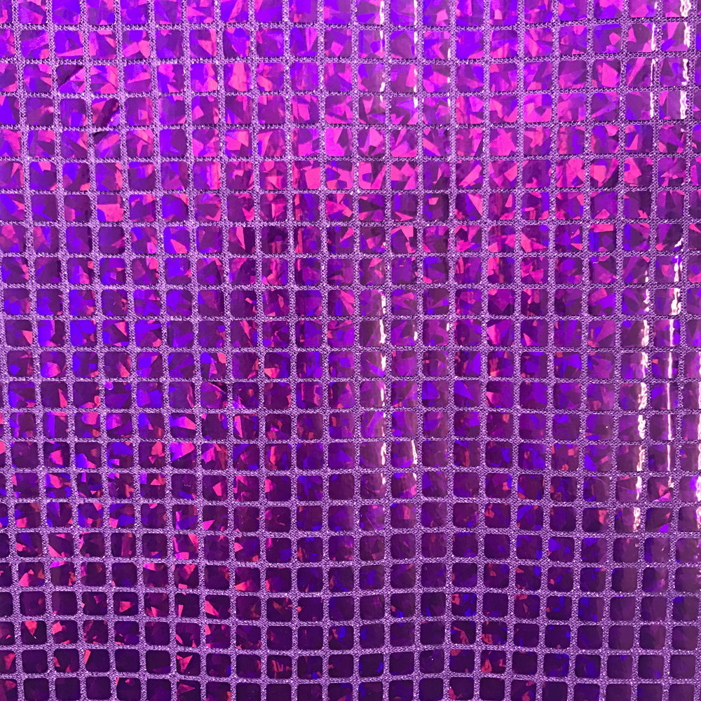 """Black SQUARE SEQUINS HOLOGRAM FABRIC 44/""""//45/"""" WIDTH SOLD BY THE YARD"""