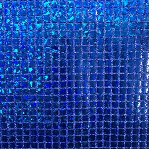 Hologram 8mm Square Sequins Fabric