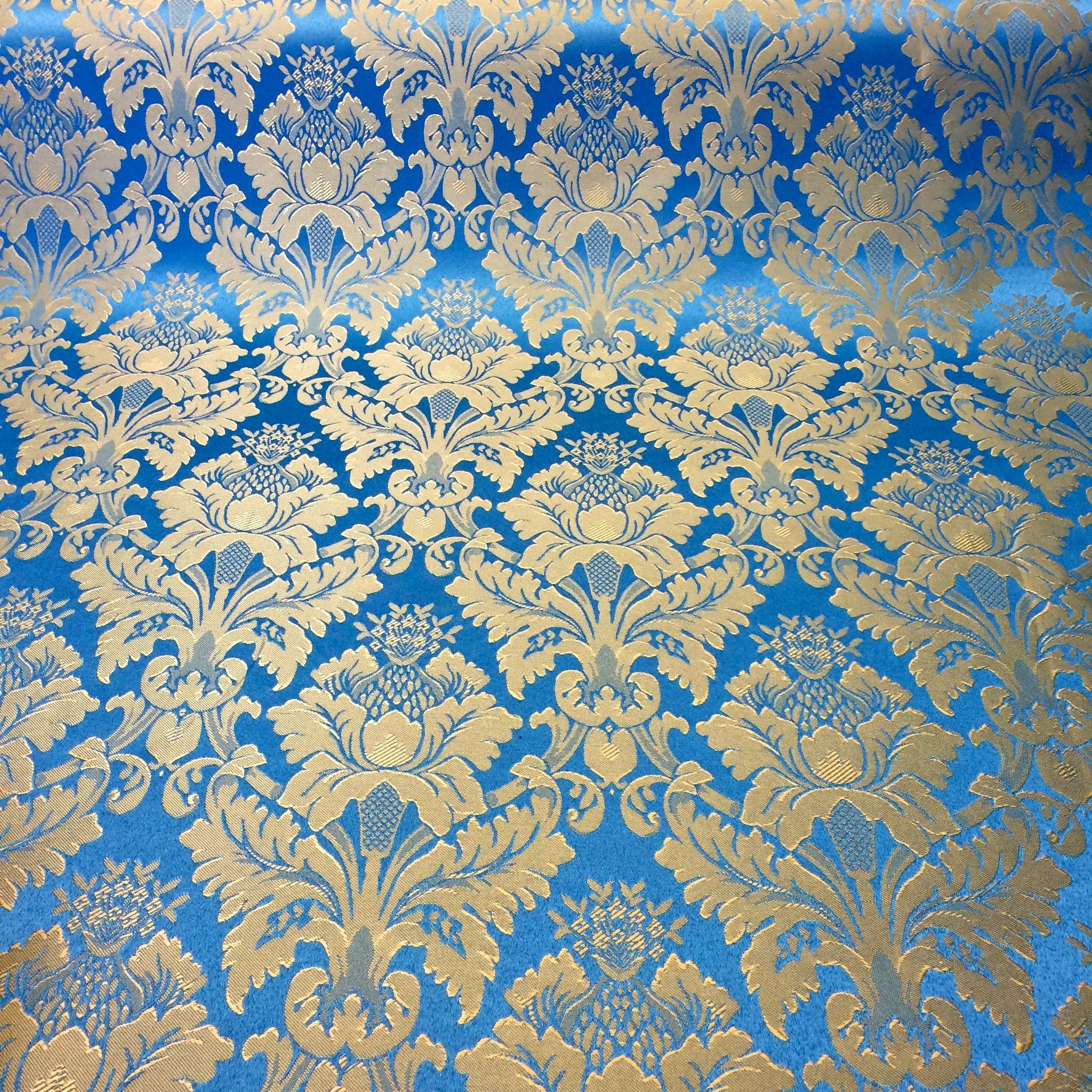 Turquoise Amp Gold Jacquard Fabric 120 Quot Wide For Curtain