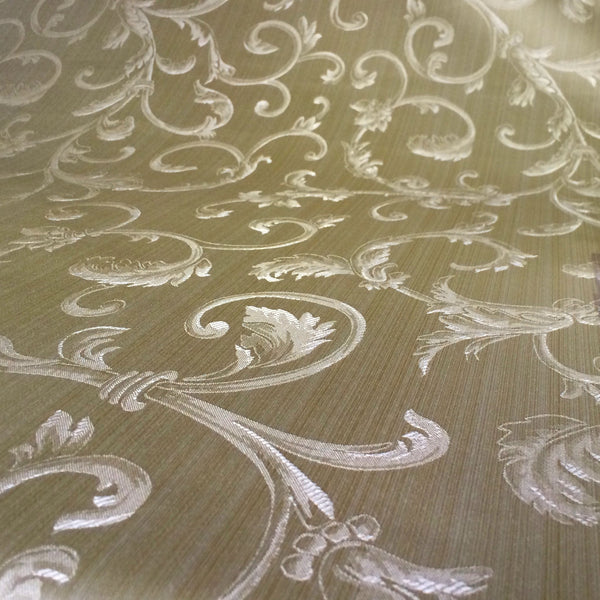 Champagne & Gold Jacquard Fabric