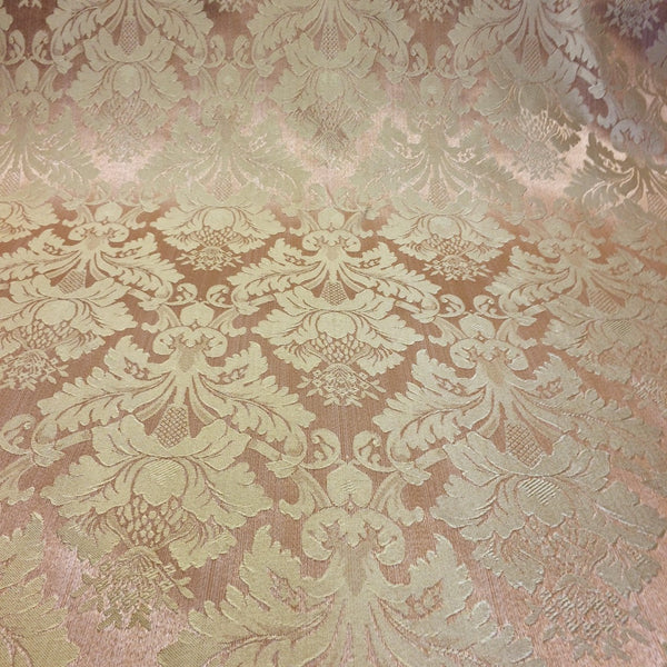 Pink & Gold Jacquard Fabric