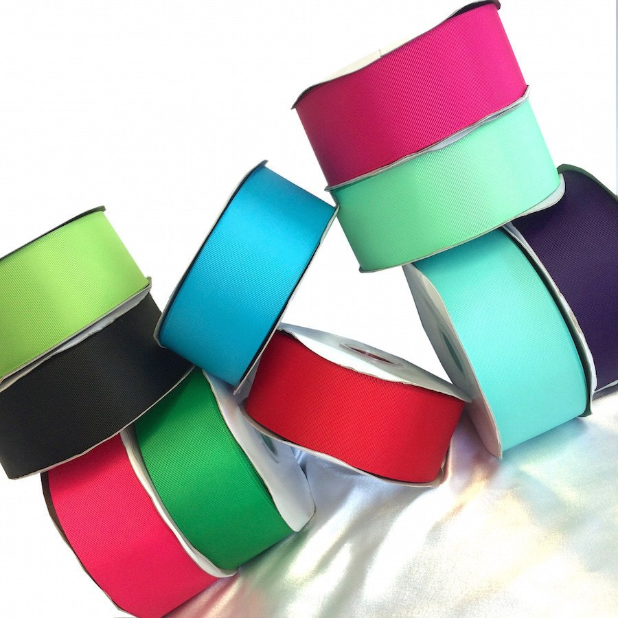 "Grosgrain Ribbon Solid (2.25"") - All Colors Fabric"